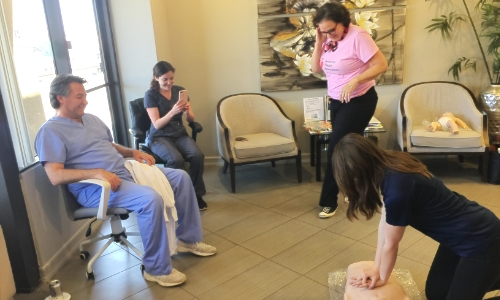 BLS Class San Diego - Del Mar Dental Arts 1 - CPR Chicks